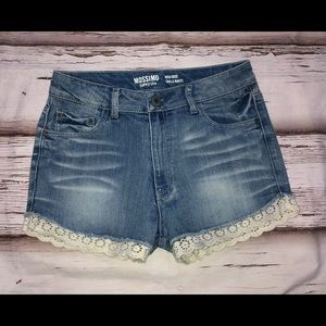 Mossimo High Rise Lace Jean Shorts - Sz. 7